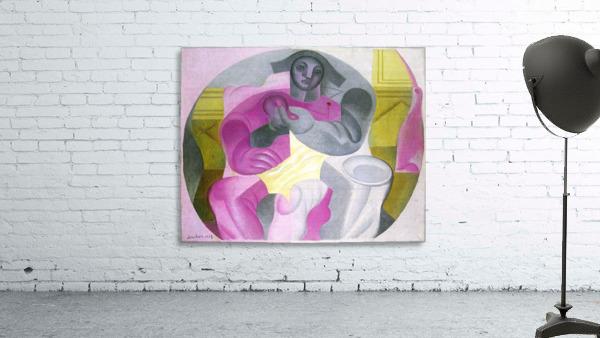 Sitting Harlequan by Juan Gris