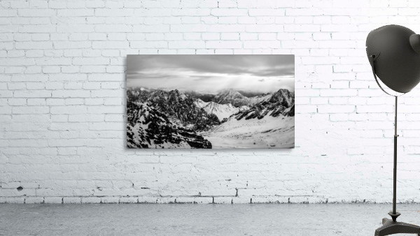 Zugspitze in black and white