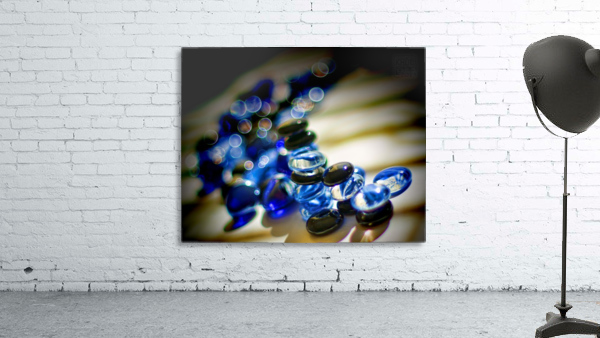 Blue Mosaic Glass Gems