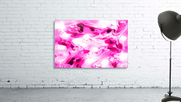Roses with Vanilla Ice Cream - pink white red large abstract swirl wall art