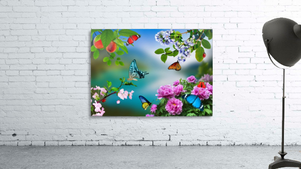 Holiday of life. Butterflies Flowers
