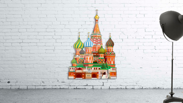 moscow kremlin saint basils cathedral red square l vector illustration moscow building