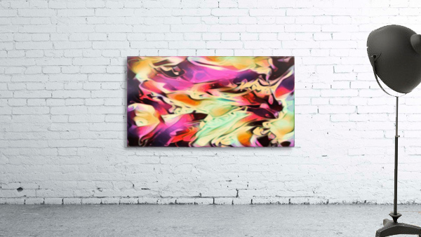 Rising Glow - multicolor swirls abstract wall art