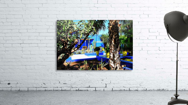 Yellow and Blue Contrasts Jardin Majorelle