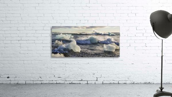 Ice bergs on Jokulsarlon beach Iceland