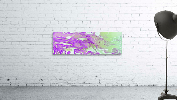 Lavender Mint Water - lavender mint green gradient swirls abstract wall art