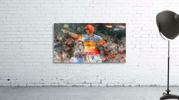ALEX BREGMAN Water Color Print - Houston Astros print