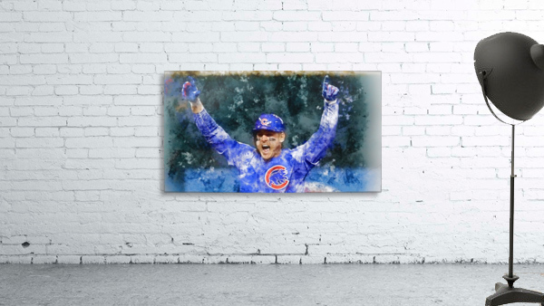 ANTHONY RIZZO Water Color Print - Chicago Cubs Print