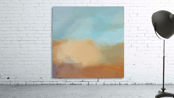 Turquoise and Copper Landscape