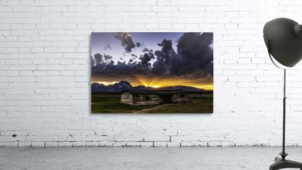 Pioneer Cabin sunset Grand Tetons