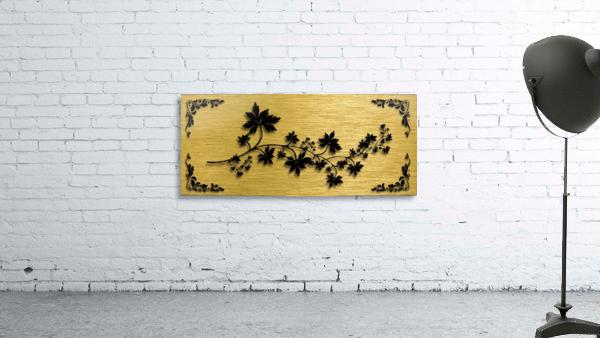 Gold illustration for interior decoration 3