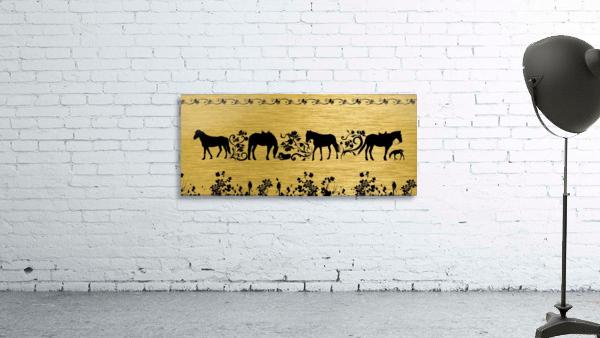 Gold illustration for interior decoration 2