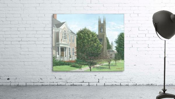 Main Street At Church Hill Road - Newtown Scenes 16X20