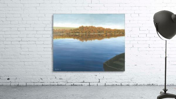 Rowboat on Taunton Lake - Newtown Scenes 16X20