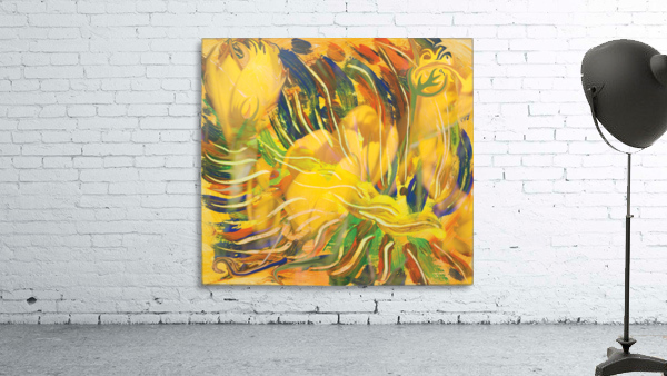 yellow flowers abstraction