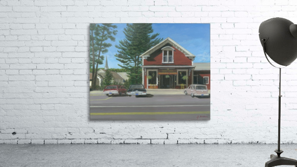 Church House and Store - Newtown Scenes 16X20