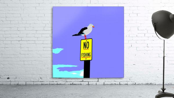 NO Fishing - Blue