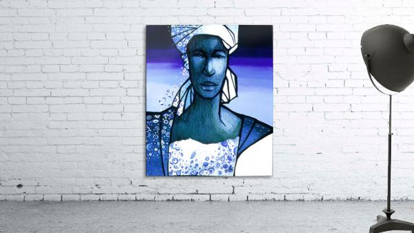 femme au turban bleu