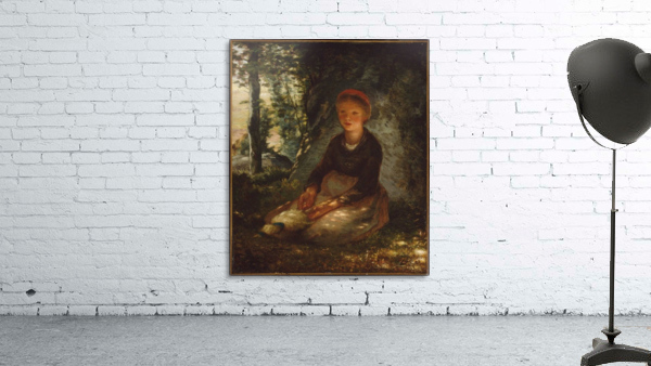 Shepherdess seated in the shade