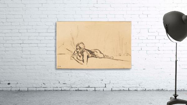 Nude reclining in a landscape