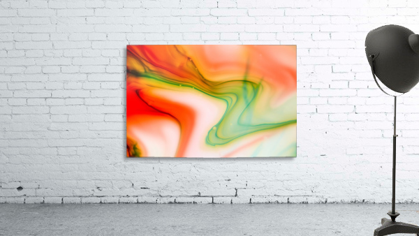 The colorful background of freeform floating watercolor