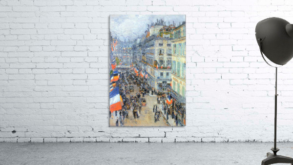The 14th July, Rue Daunou by Hassam