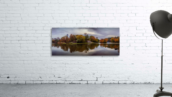 Central park lake panorama