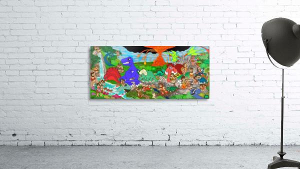 Dino Land Printed Mural