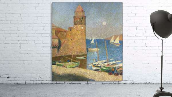 The Tower of Collioure under the Rising Moon