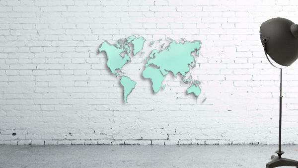TURQUOISE SHADE WORLD MAP