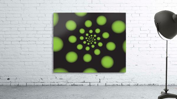 Green Spiral Dots