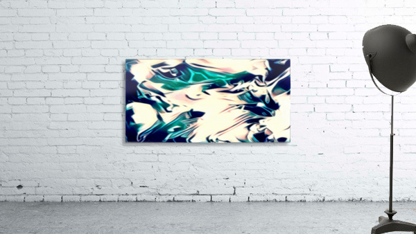 Crystal Spine - green white blue multicolor abstract swirl wall art
