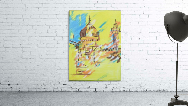 Ahson_Qazi_Geometrical_Islamic abstract artahson_qaziShades_of_DivinityIslamic_Artstretched canvass 12x16