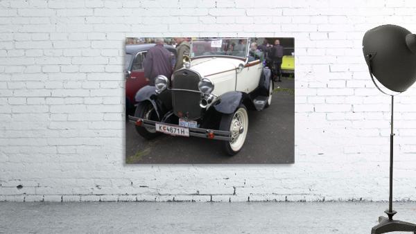 Vintage car in italian exposition