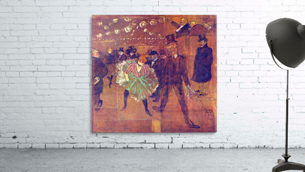Ball At Moulin-Rouge by Toulouse-Lautrec