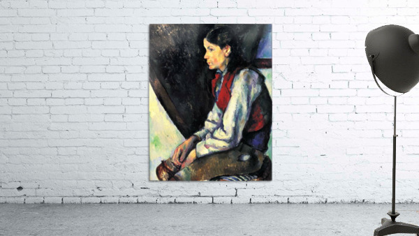 Boy with Red Vest by Cezanne