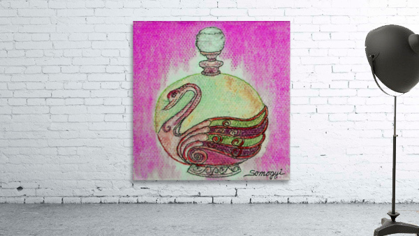 Bottled Purple Swan