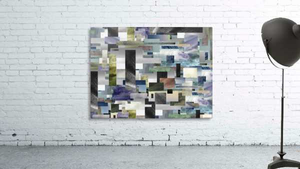Gray Geometry Watercolor Geometrics Decorative Blocks XIV