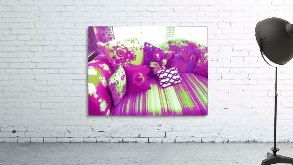Sofa & Pillows -- Purple & Green