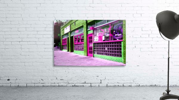 Atlanta Street Scene -- Fuchsia & Lime