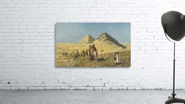 Caravan and pyramids