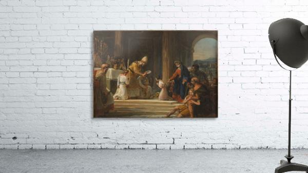 Esquisse pour l eglise Notre Dame de Lorette Consecration de la Vierge
