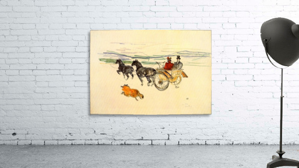 Carriage by Toulouse-Lautrec
