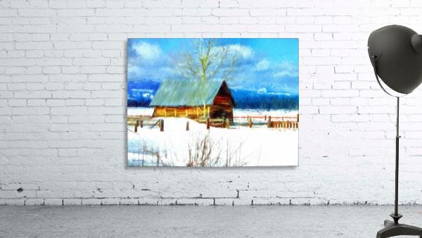 Winter Homestead Watercolor