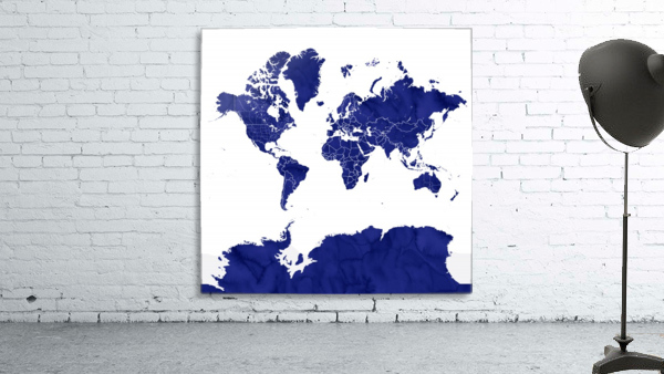 navy blue world map with outlined countries