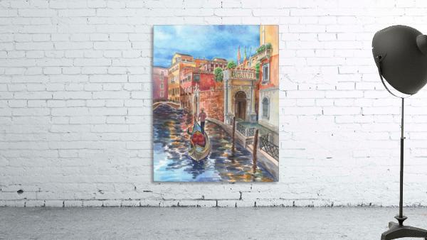 Venice Canal And Gondolier Italian City Landscape