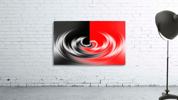 Black White Red Abstraction