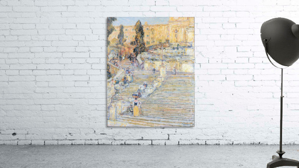 The Spanish steps by Hassam