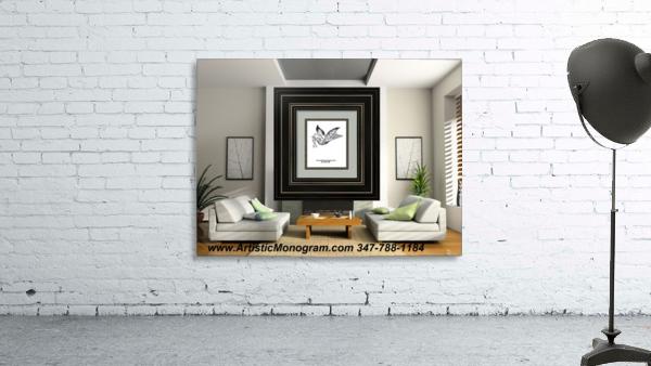 art   monogram   dove