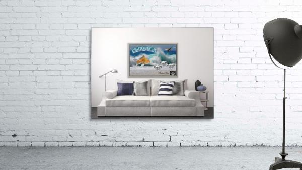 monogram art   israel ocean 1 FOR DSPLAY ONLY in room setting